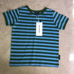 Marimekko boys size 3 year striped t-shirt